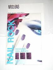 NAIL ROCK Designer Nail Wraps NR016NS Pink Velvet Leopard Skin - Made in UK- NEW
