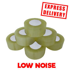 36 ROLLS CLEAR STRONG LOW NOISE BOX SEALING 48MM X 150M * LARGE TOUGH TAPE *