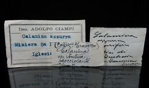 HEMIMORPHITE specimen * Sa Duchessa Mine * Italy