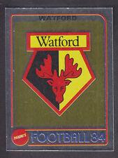 Panini - Football 84 - # 312 Watford Foil Badge