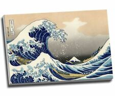 "Katsushika Hokusai The Great Wave off Kanagawa Canvas Print Wall Art 30x20"" A1"