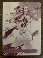 2021 Topps Inception Pete Alonso 1/1 Printing Plate New York Mets