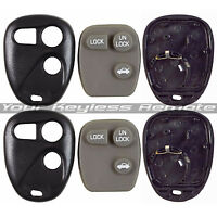2 New Remote Keyless Entry Case Shell And Rubber Pad For GM Chevy Buick Pontiac