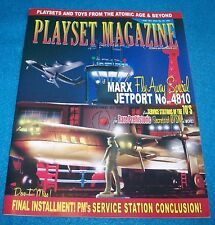 Playset Magazine #83,Marx Jetport + Service stations part 5 +Prehistoric sets