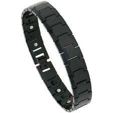 Tungsten Carbide Black Magnetic Bracelet