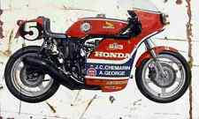 Honda RCB1000 1976 Aged Vintage Photo Print A4 Retro poster