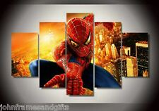 Spiderman print canvas kids room 5 pieces