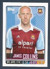 TOPPS 2013/14 PREMIER LEAGUE #342-WEST HAM & WALES-VILLA-CARDIFF-JAMES COLLINS