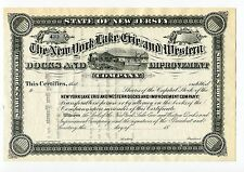 New York Lake Erie and Western Docks and Improvement Company.  1880s Crisp Mint