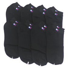 New 8 Pairs Mens Cotton Low Cut Ankle Socks Black Casual Athletic Korea #A1-3
