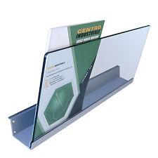 Piano in lamiera porta riviste alto per pannello dogato completo di vetro