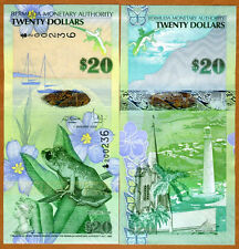 Bermuda, $20, 2009, Hybrid, P-60, First Prefix, First Signature, UNC