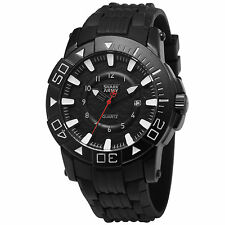 Shark Army Mens Quartz Wrist Watch Sport Military Black Rubber Date Analog