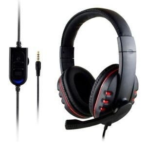 SOONHUA 3.5mm Wired Gaming Headset Deep Bass Game Earphone Computer Headset