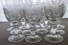 GV63  TWELVE (12) CZECHOSLOVAKIA BOHEMIA GRAPEVINE GRAPE VINE LIQUEUR GLASSES
