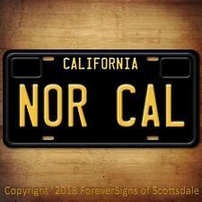 Nor Cal California State/College Vanity License Plate Black