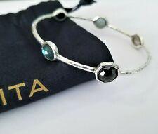 IPPOLITA Rock Candy 5-stone Onyx MOP Topaz Multi Shape Bracelet - Stunning! $595