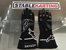 Go Kart - Alpinestars Gloves Tech 1 K Race S - KIDS - Black/White - Large