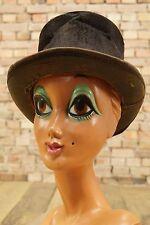 alter Herrn Hut Zylinder vintage Claque schwarz antik Hat Shabby Tramp-Look