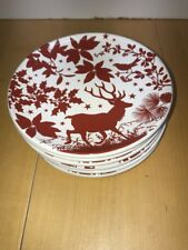 ROOM CREATIVE HOLIDAY SILHOUETTES (6) Signature China Dinnerware DESSERT PLATES