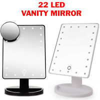 22 LED 5X MAGNIFYING TOUCH SCREEN LIGHT MAKE-UP COSMETIC TABLETOP VANITY MIRROR
