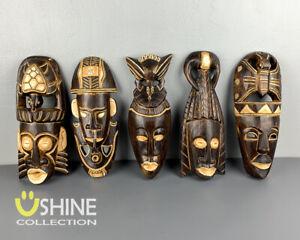 African Wall Decor,Wooden Mask Wall Hanging,Tribal Mask,Home Decor,Handmade,Art