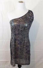 Victoria's Secret Moda International Sexy One-Shoulder Sequin Dress Size 6 NWOT