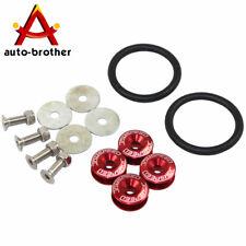 Red Quick Release Car Bumper Fender Trunk Hatch Lid Aluminum Fastener Kit