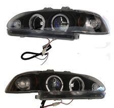 Head Light 92-95 Set Projector 1 Piece Sedan Black/Blue Civic