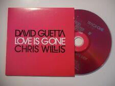 DAVID GUETTA & CHRIS WILLIS : LOVE IS GONE ♦ CD SINGLE PORT GRATUIT ♦