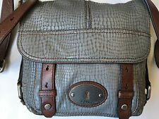 Fossil Maddox Flap Crossbody Reptile-like Leather Messenger Shoulder Bag $188