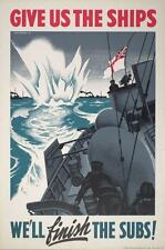 Print. WW2. Canada. Navy War - WE'LL finish THE SUBS!