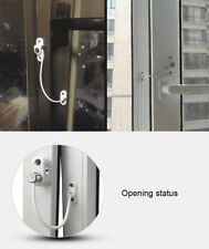 Lockable Window Door Restrictor Cable Lock Catch For Child Baby Safety Security