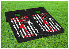 Us Flag Lineman Proud Cornhole Boards Beanbag Toss Game Bags Lineman S01439