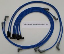 Big Block DODGE 400-440 1973-1978 BLUE Spiral Core Spark Plug Wires for HEI CAP