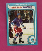1979-80 TOPPS # 145 RANGERS CAROL VADNAIS   NRMT-MT  CARD (INV# A2219)