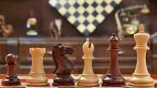 Staunton Series Weighted Chess Pieces & Board Combo in Bud Rosewood  SKU-VJ011.