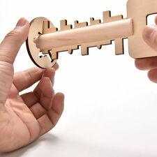 Key Unlock Puzzle Intelligence Educational Toys Pre-school Wooden Kid Toy