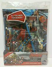 Lot of 2 Marvel Avengers 11-Piece Stationary Set All you need for School