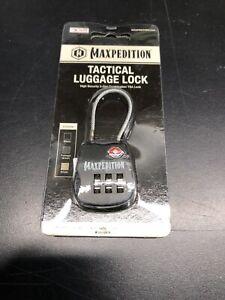 Maxpedition Tactical Luggage Lock Black TSALOCB NEW FREE SHIPPING
