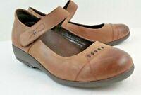 Gravity Defyer Azita Women Mary Jane Brown Leather size 9.5 Comfort Fashion Shoe