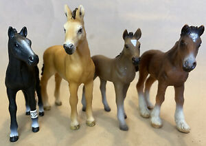 Schleich Bulk Foal And Yearling Set 13272, 13738, 13277, 13714 RETIRED
