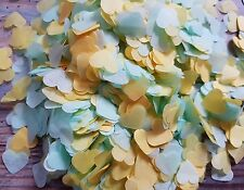 MENTA verde e giallo CUORE Coriandoli Matrimonio Decorazione / gettare / ECO 2 handfuls