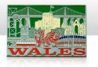 Gales Gran Bretaña Metal Recuerdo Imán 6,5cm Souvenir, Nuevo, Gran Bretaña