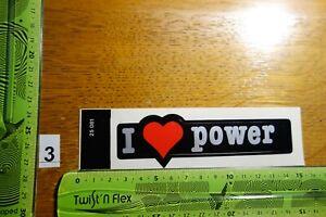 Alter Aufkleber Spruch ...I like power