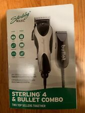 WAHL STERLING 4 & BULLET COMBO PROFESSIONAL CLIPPER & TRIMMER SET. NEW IN BOX