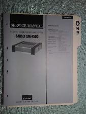 Sansui Sm-X500 service manual original repair book stereo hi power amp amplifier