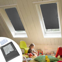 Skylight Blinds Blackout Thermal Roof Roller for Velux skylight windows Gray