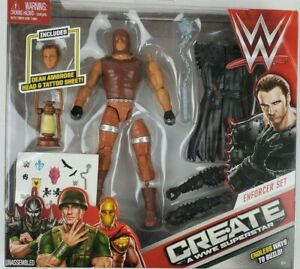 Create a WWE Superstar Action Figure Enforcer Set Dean Ambrose Mattel