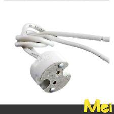 R028 portalampada attacco MR16 GU5.3 bassa tensione 12V in ceramica per faretto